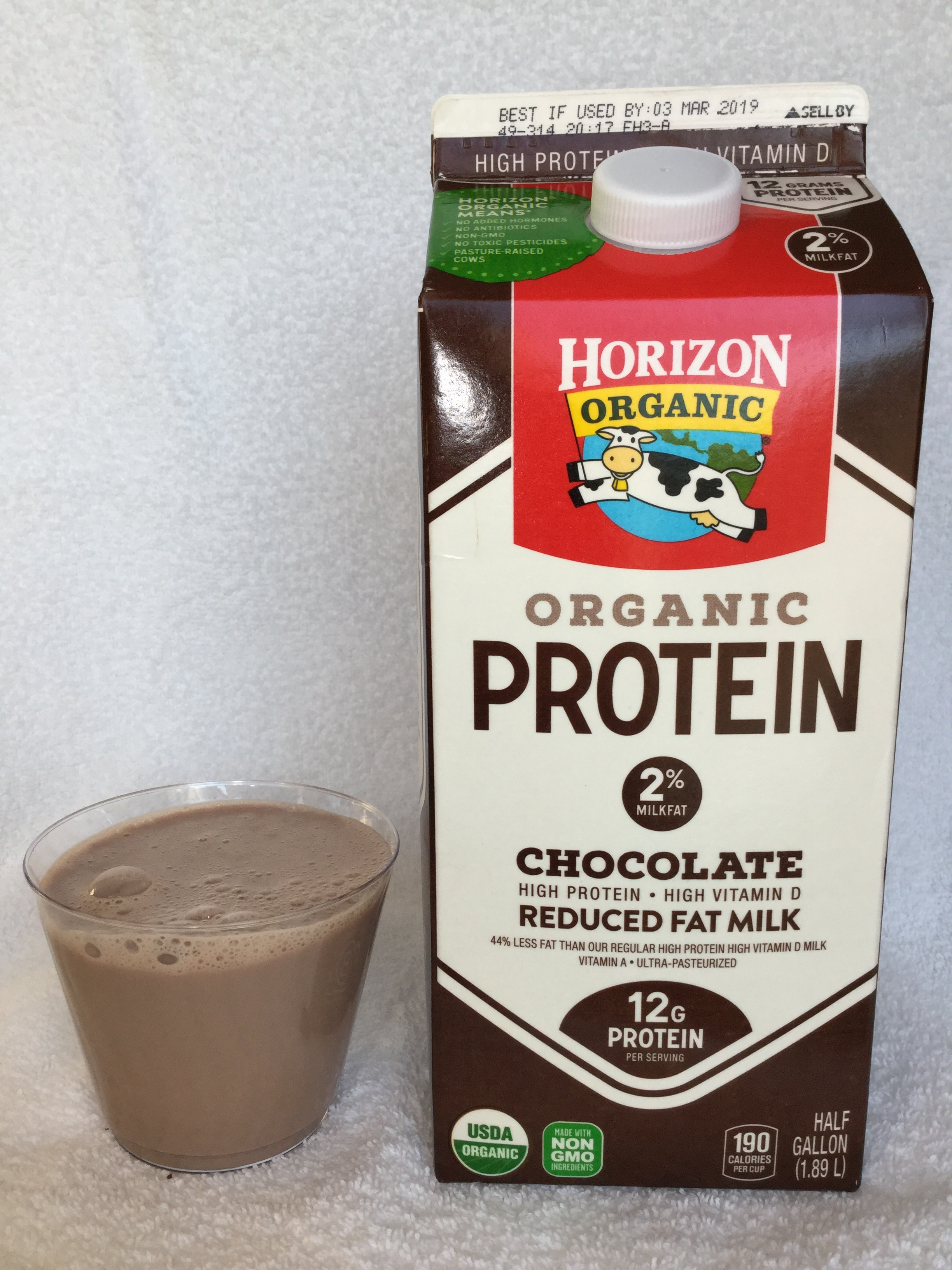 Horizon Organic Protein Reduced Fat Chocolate Milk Cup
