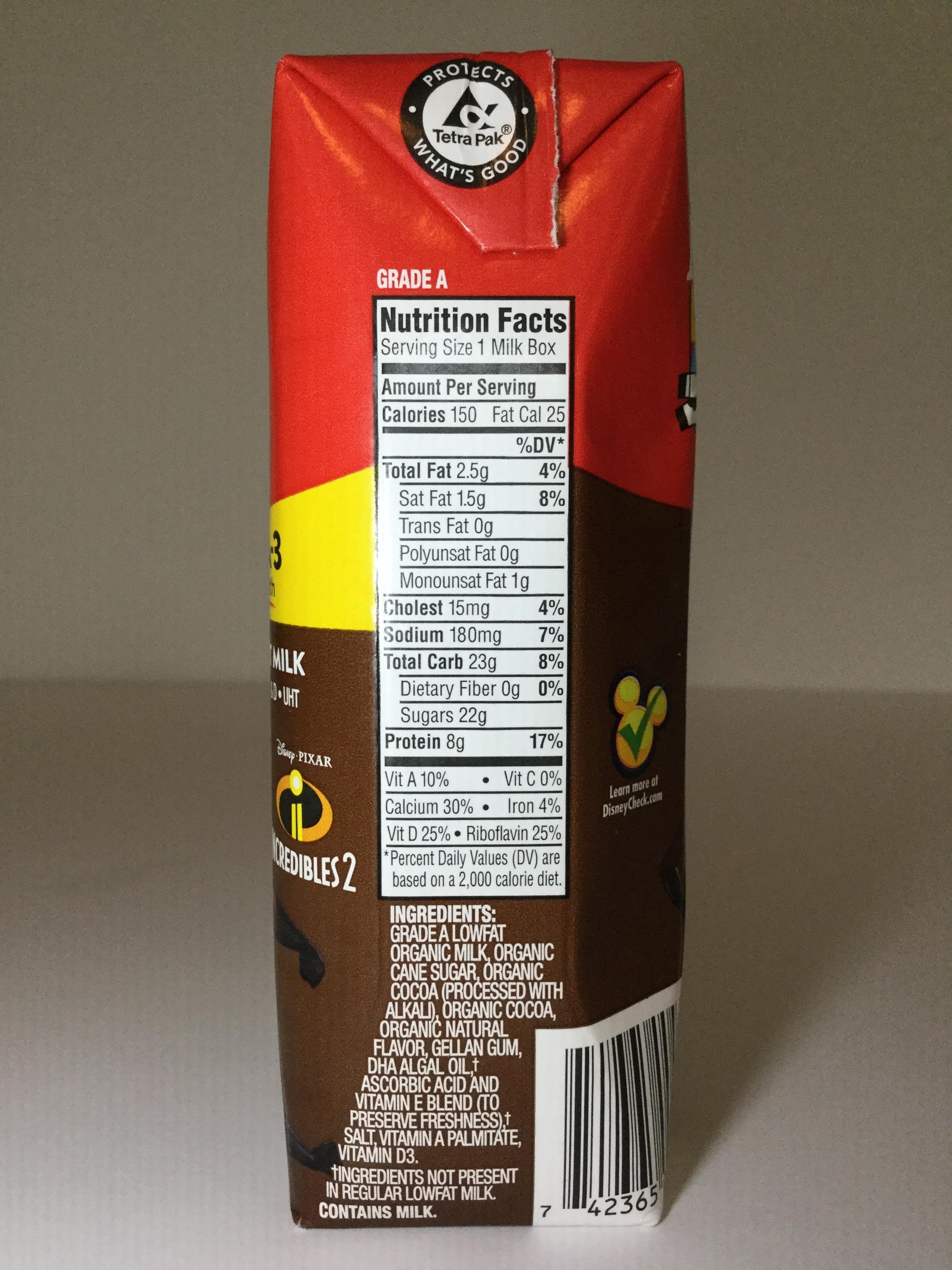Horizon Organic DHA Chocolate Milk Side 1