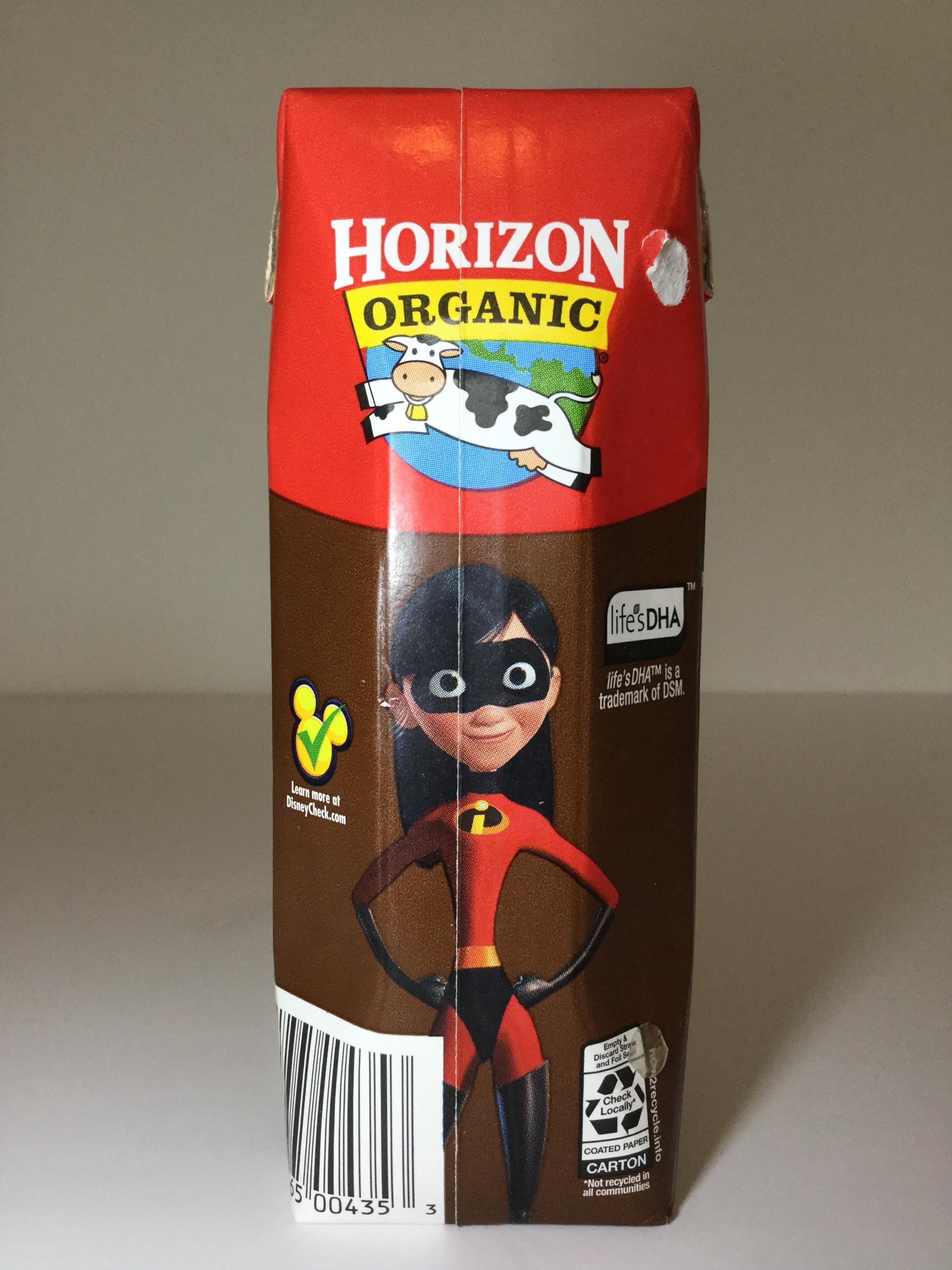 Horizon Organic DHA Chocolate Milk Side 3