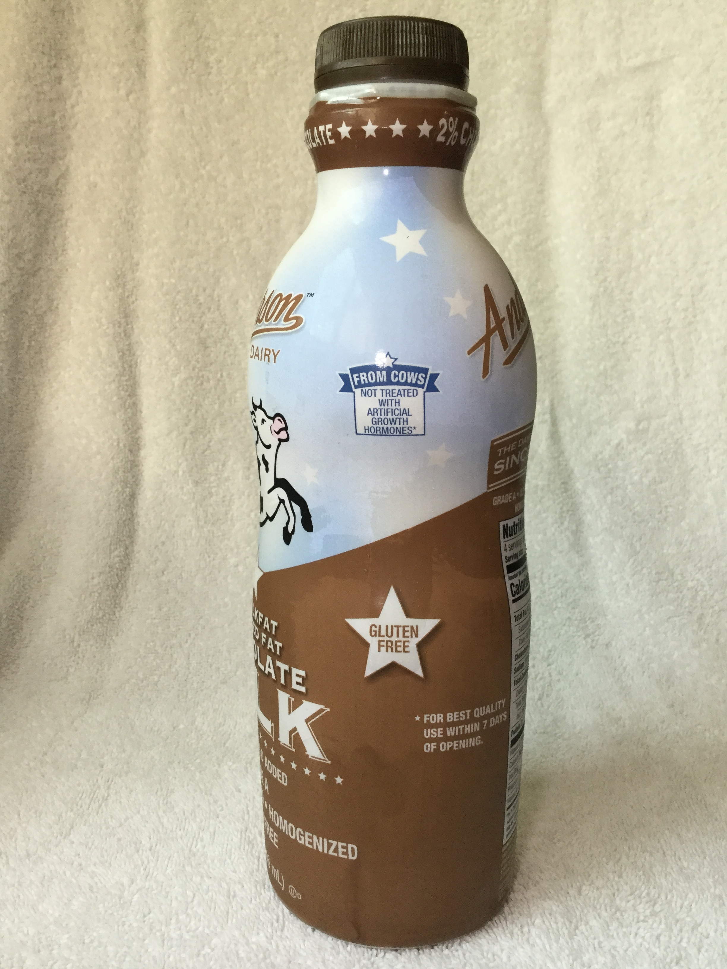 Anderson Dairy Reduced Fat Chocolate Milk Side 3
