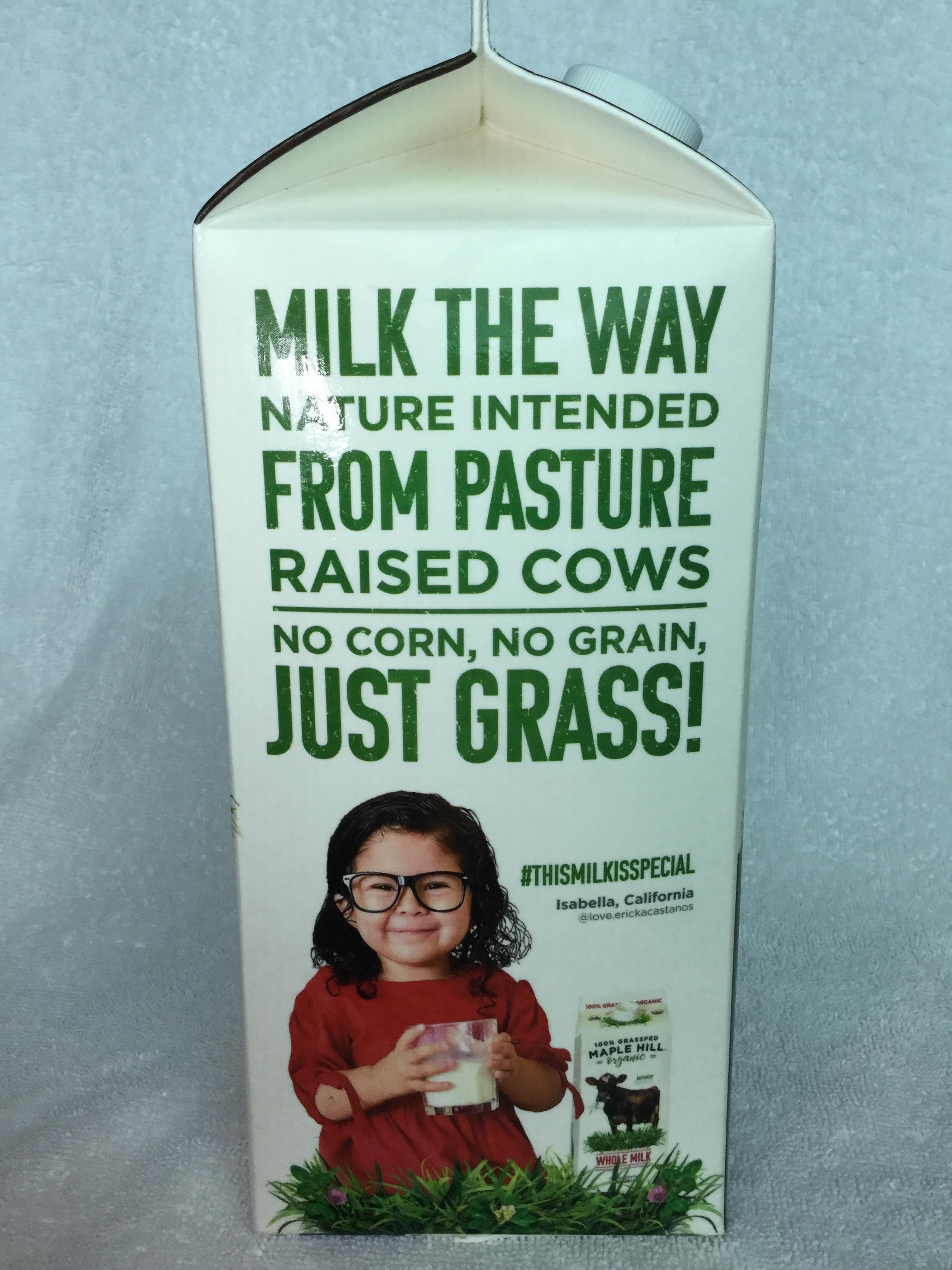 Maple Hill Organic Chocolate Milk Side 3