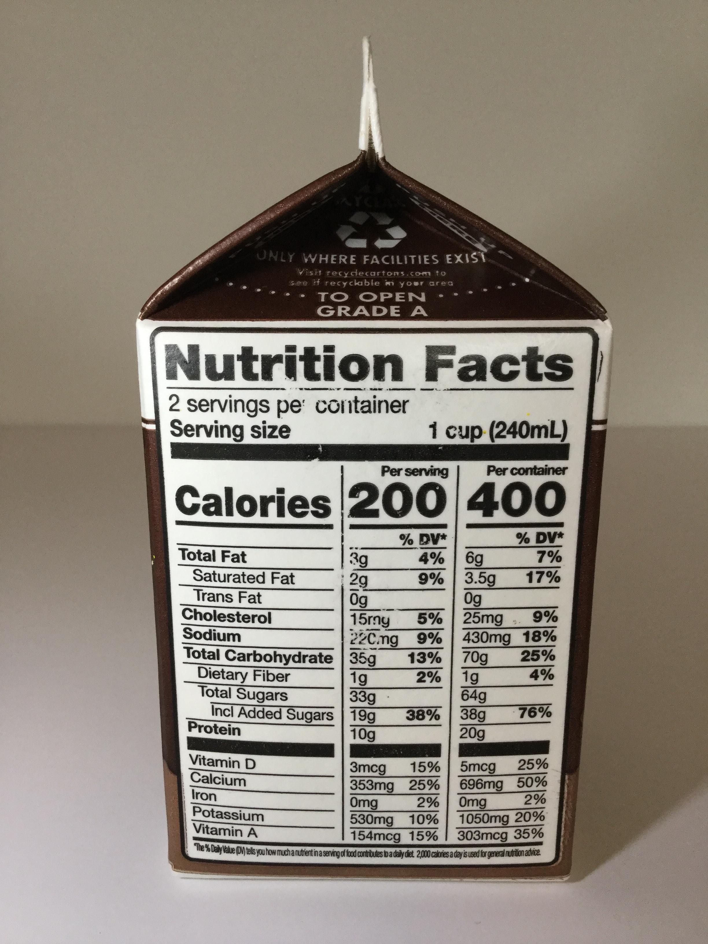 Breckenridge Farms Lowfat Chocolate Milk Side 1