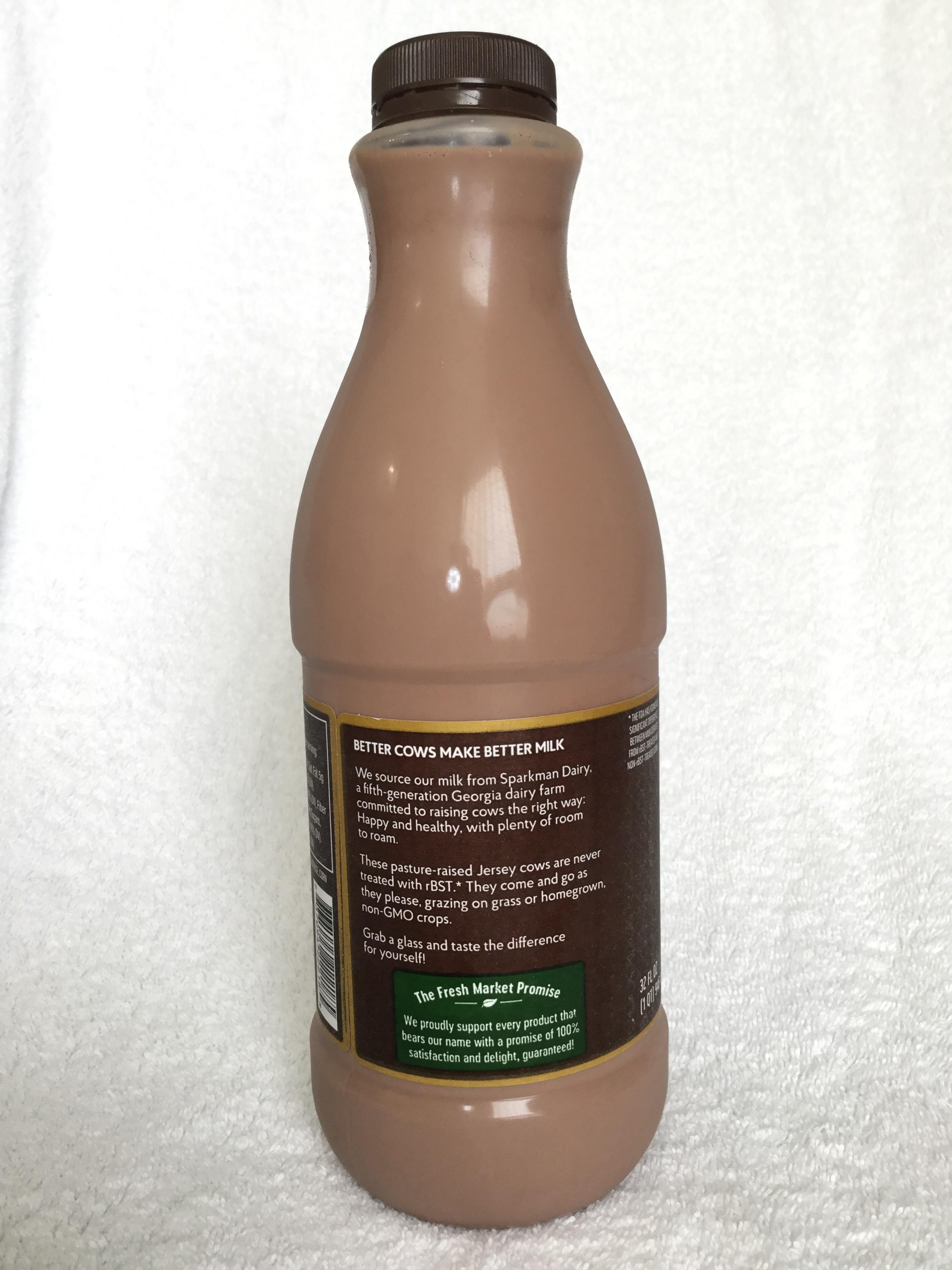 The Fresh Market Whole Chocolate Milk Side 2