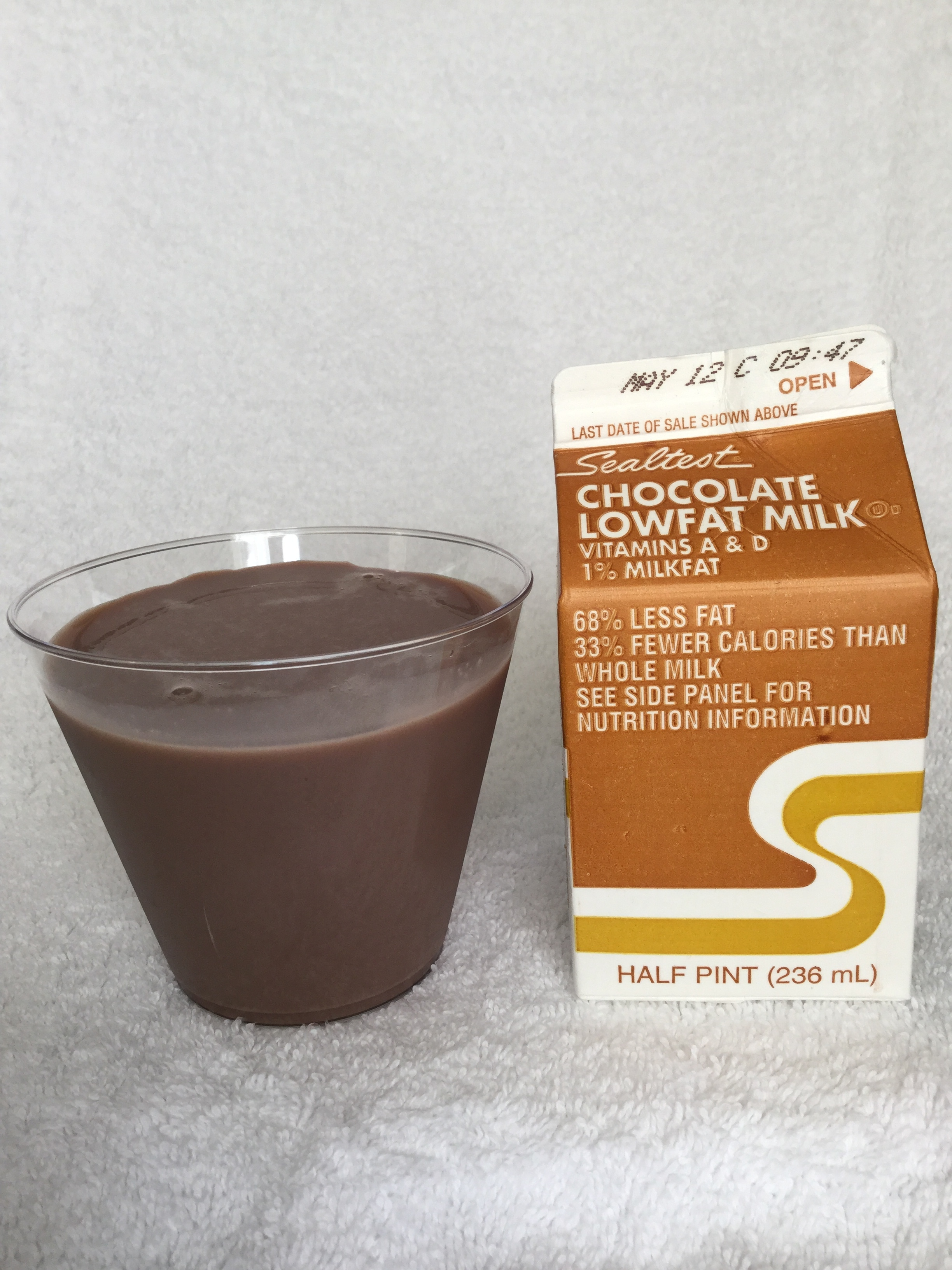 Sealtest Chocolate Lowfat Milk Cup
