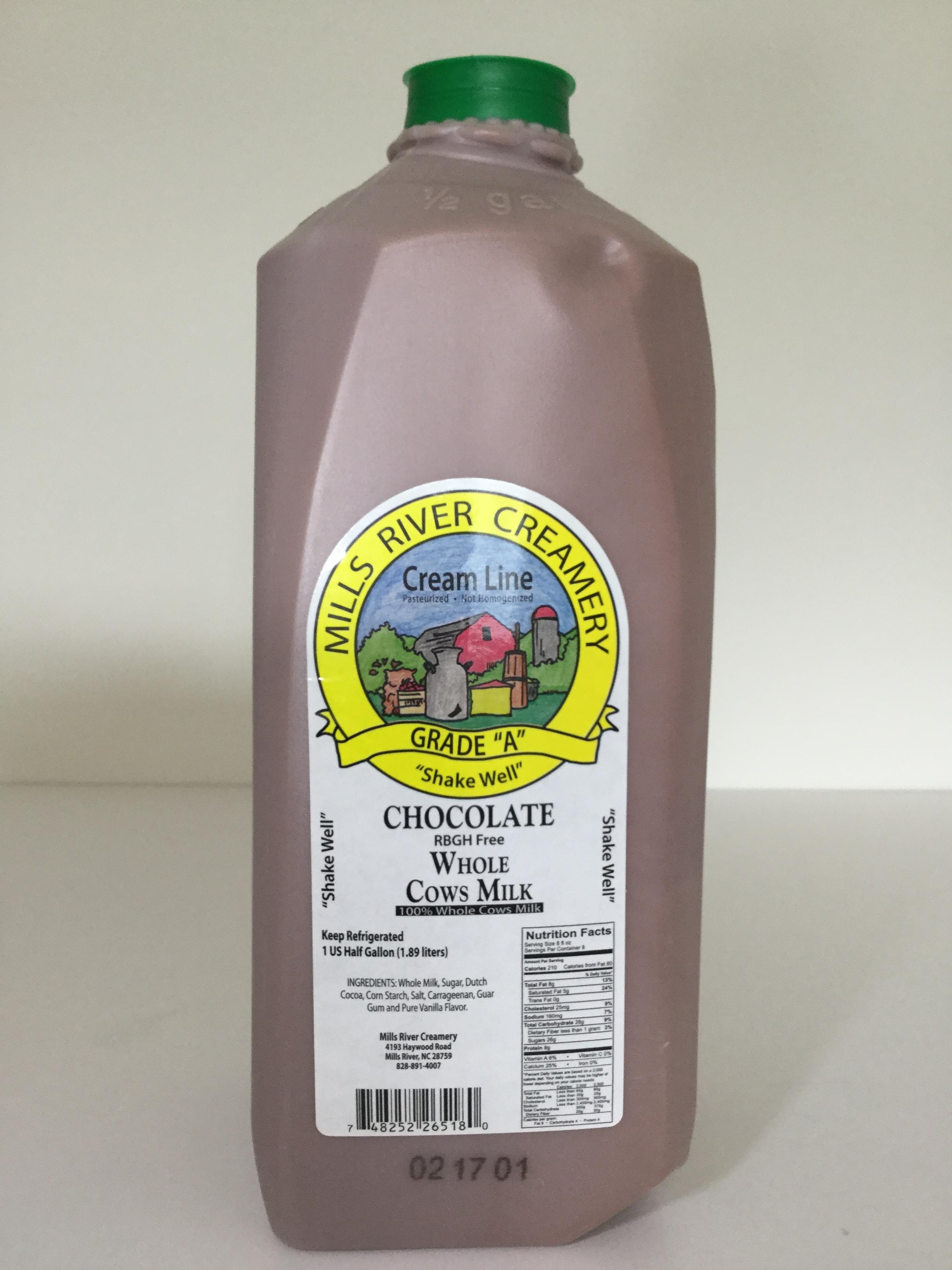 Mills River Creamery Chocolate Milk Side 3