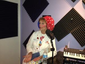 Lotsy Dotsy in the Podcast studio