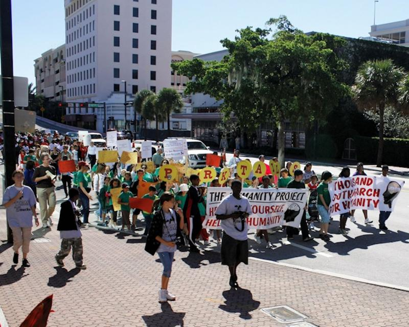 11/16/08: First mass kids march against bullying in the United States ... organized and led by the Humanity Project.