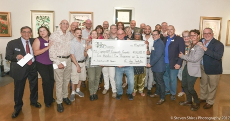 At the Our Fund 2017 Spring check presentation, New River Fine Art Gallery