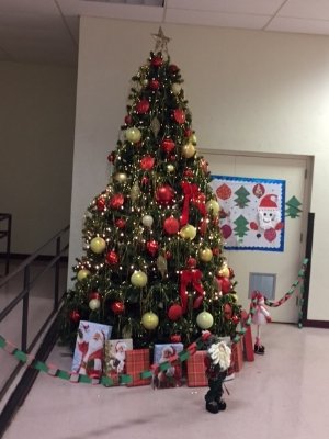 Among the decorations we donated to the school, thanks to Dauerflora