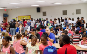Hundreds of kids and parents attended the big Morrow event