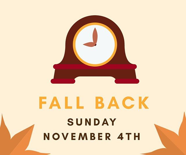 Daylight Saving Time ends tomorrow morning at 2:00 AM. Don't forget to turn your clocks back an hour and get that extra hour of sleep before church.