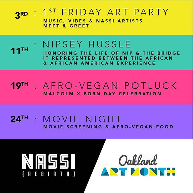 Every Weekend this May! Alena's satellite space at Swans Market will be having events and activations. Our current experiential installation, Nassi {REBIRTH} has been living and growing over the last 3 months. Come explore and meet some of the artivists bringing Nassi {REBIRTH} to life. Plus, we got @Afrooakland teaming up with @marie_lueur to serve up  VEGAN Alkaline Pizza with a East African twist 😜.. Peep the video coming next ..