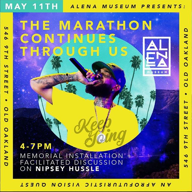 How do we harness the legacy of Nipsey Hustle's activism and realize it in our lives?Nipsey's legacy lives beyond murals, vigils, social media posts... His work is about Black empowerment, investing in the hood, and investing in Black FUTURES. Join us this Saturday for a critical conversation about what the Marathon journey looks like in action for YOU. 4-5pm: Music & build  5-6:30 : Facilitated conversation with @_steeze_