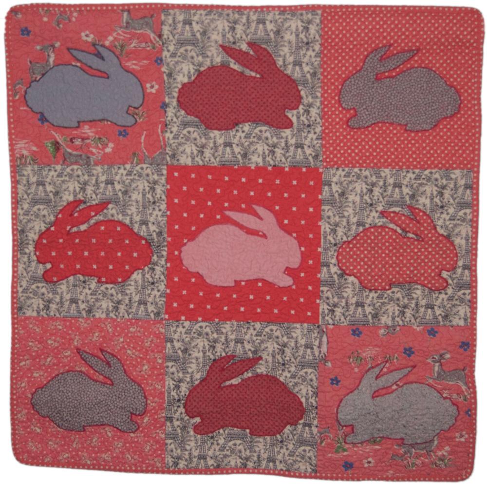 bunnies baby quilt
