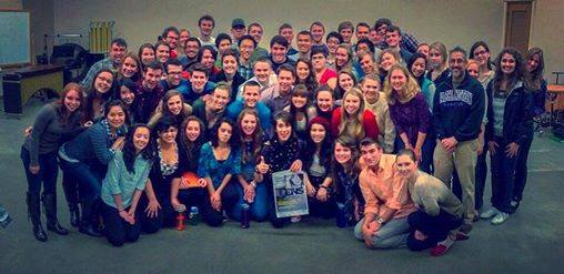 UW Chorale posing with Imogen Heap pre-performance