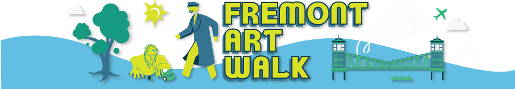 Every first Friday, 6pm-9pm  http://www.fremontfirstfriday.com/