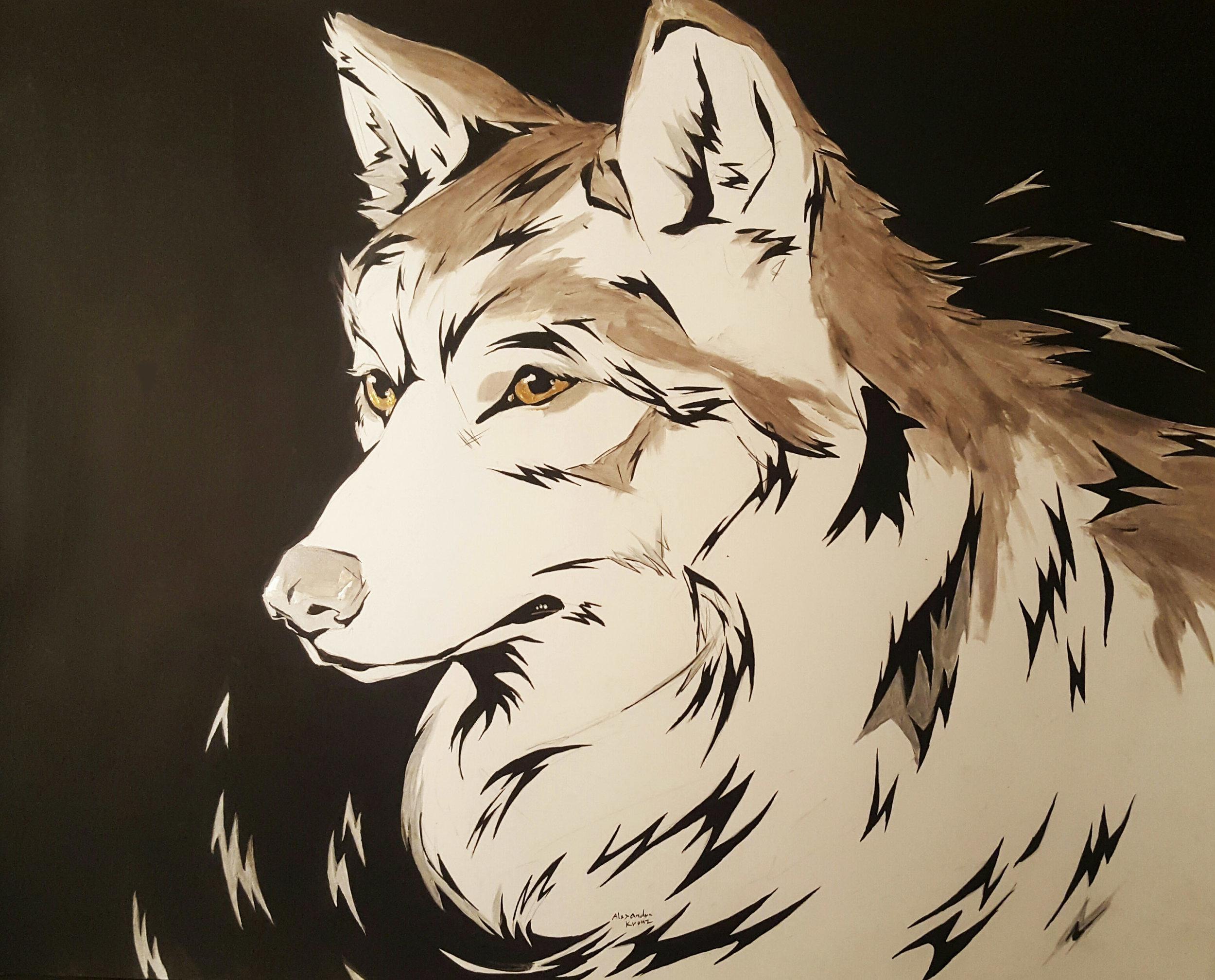 acrylic on bristol paper