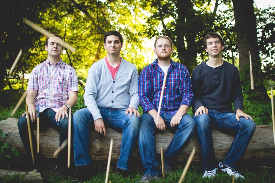 The Kraken Quartet: Sean Harvey, Chris Demetriou, Taylor Eddinger, and Andrew Dobos
