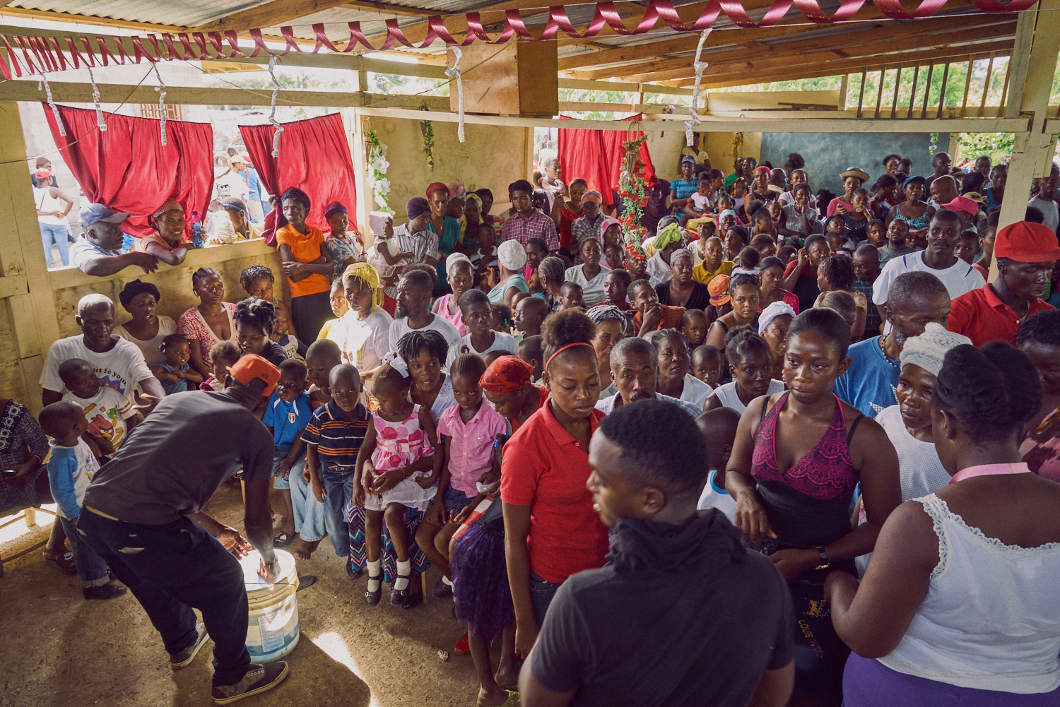 Early in the morning, the church building was filled to capacity and remained so for the duration of the day.