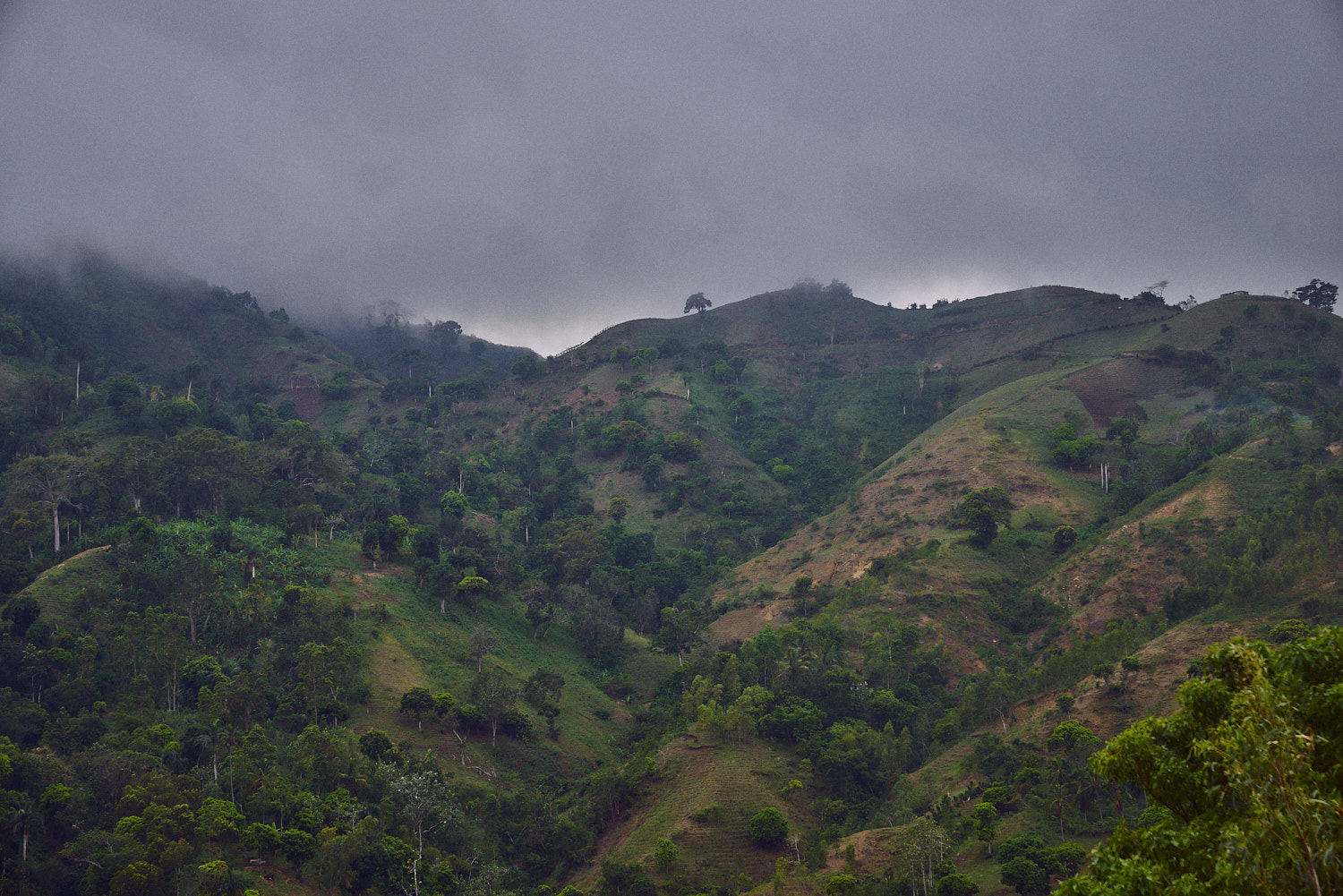 A view from across the hillside from Bethel School, Leogane, 2016.