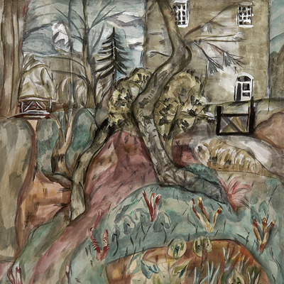 Frances Hodgkins - House in the Counrtyside