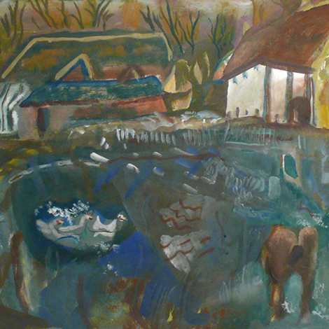 Frances Hodgkins - The Farm Pond