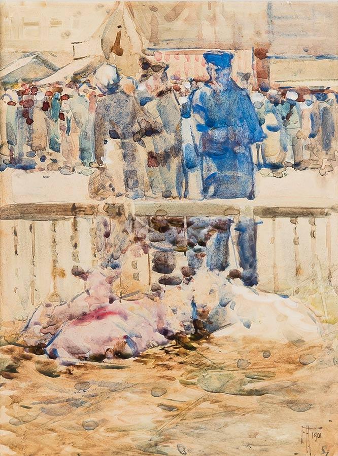 Frances Hodgkins Painting Calves for Sale Les Andelys Normandy