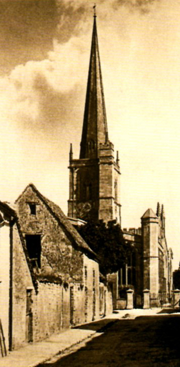 The Old Stone Barn & St John the Evangelist Church,    Lawrence Lane 1920s
