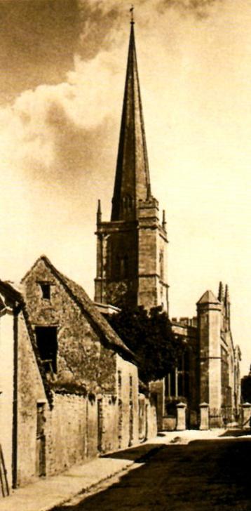 The Old Stone Barn & St John the Evangelist Church,   Lawrence Lane 1920s