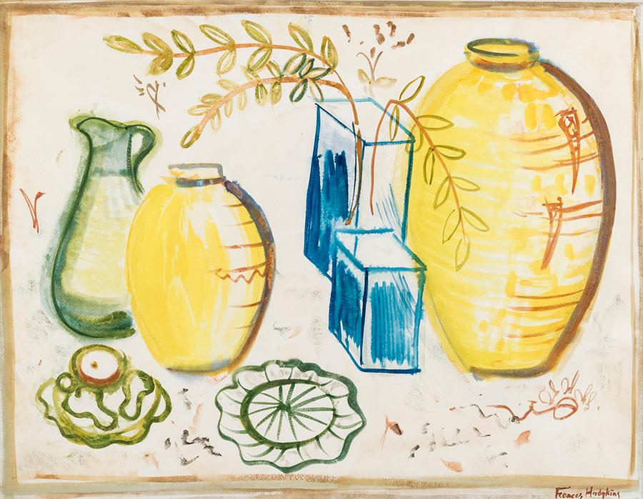Frances Hodgkins - Still Life, Arrangement of Jugs