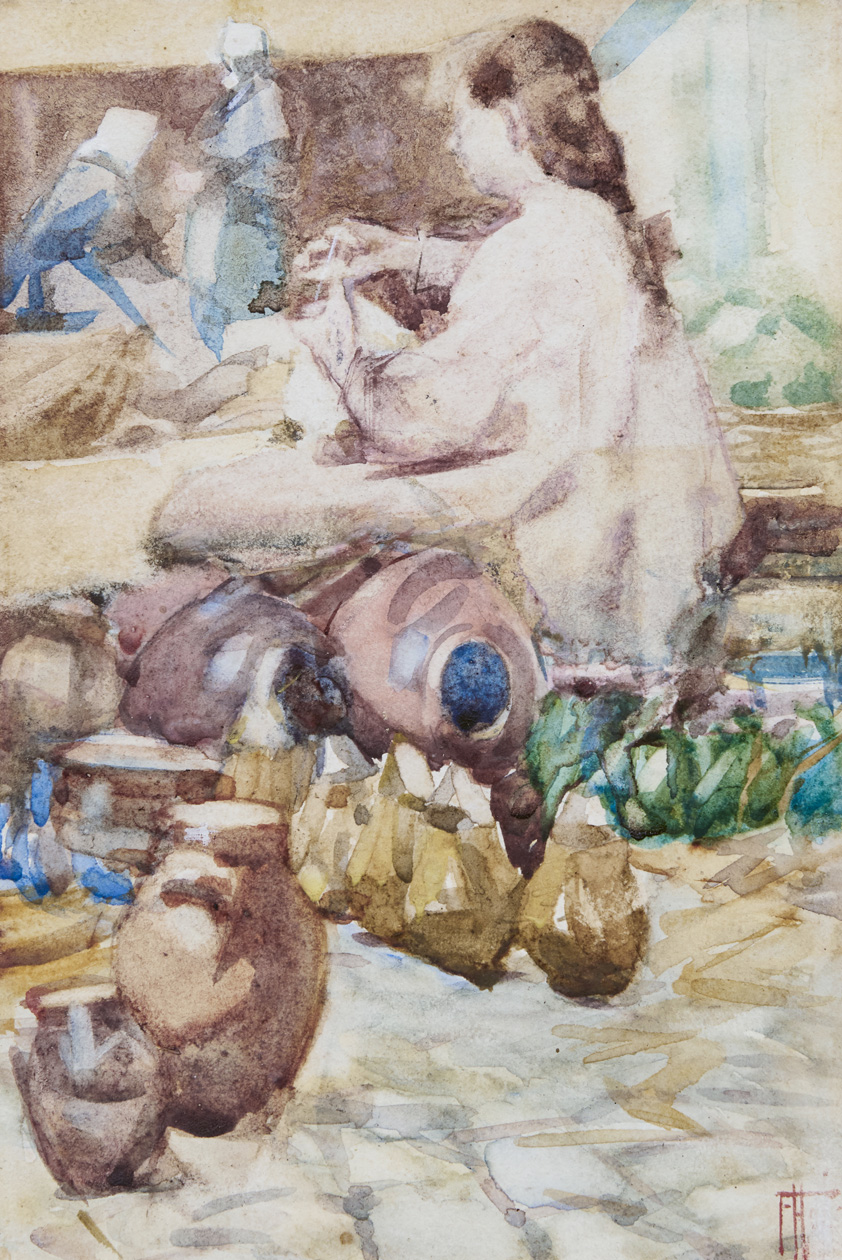 Frances Hodgkins, Breton Pottery Market