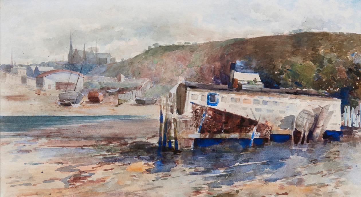 Frances Hodgkins, Old Boathouse, Port Chalmers