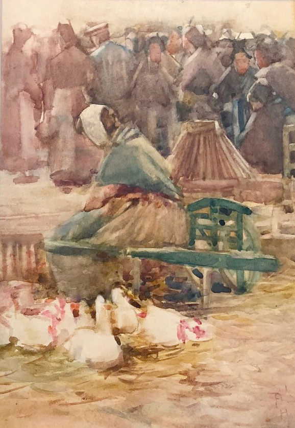 The Poulterers' Corner, Arles 1901