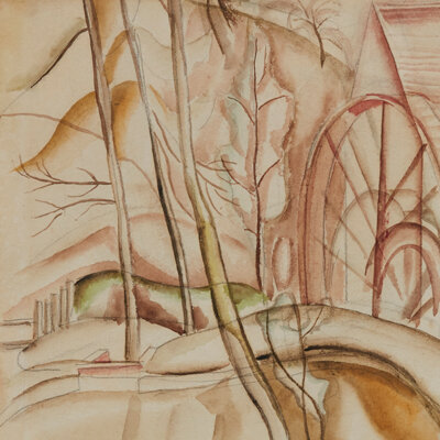 Frances Hodgkins - The Water Wheel c.1926