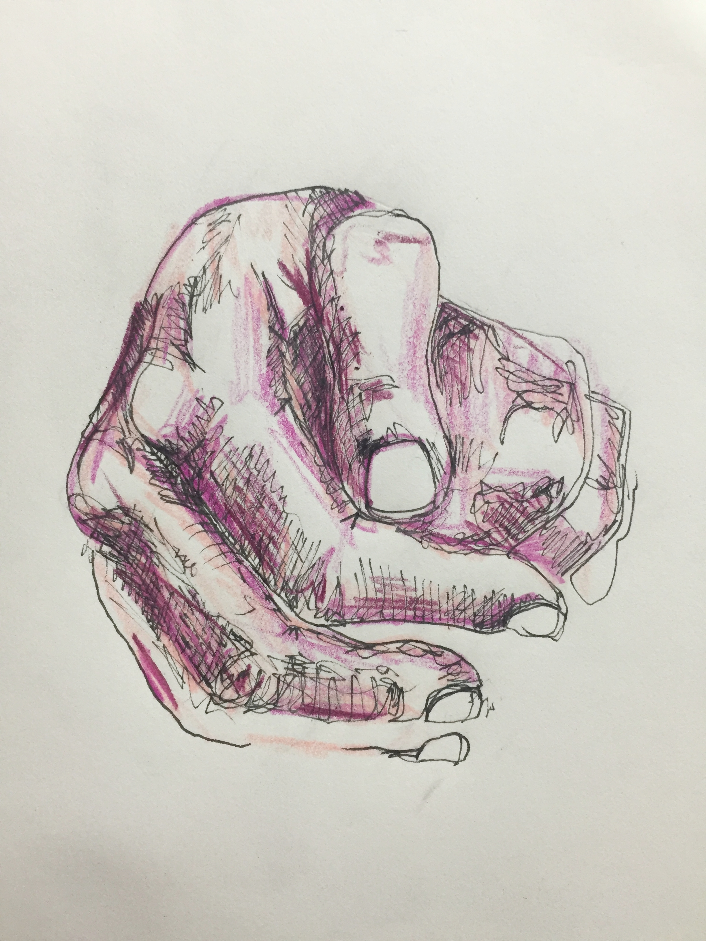 Life study, pen and pencil crayon on paper, 2016