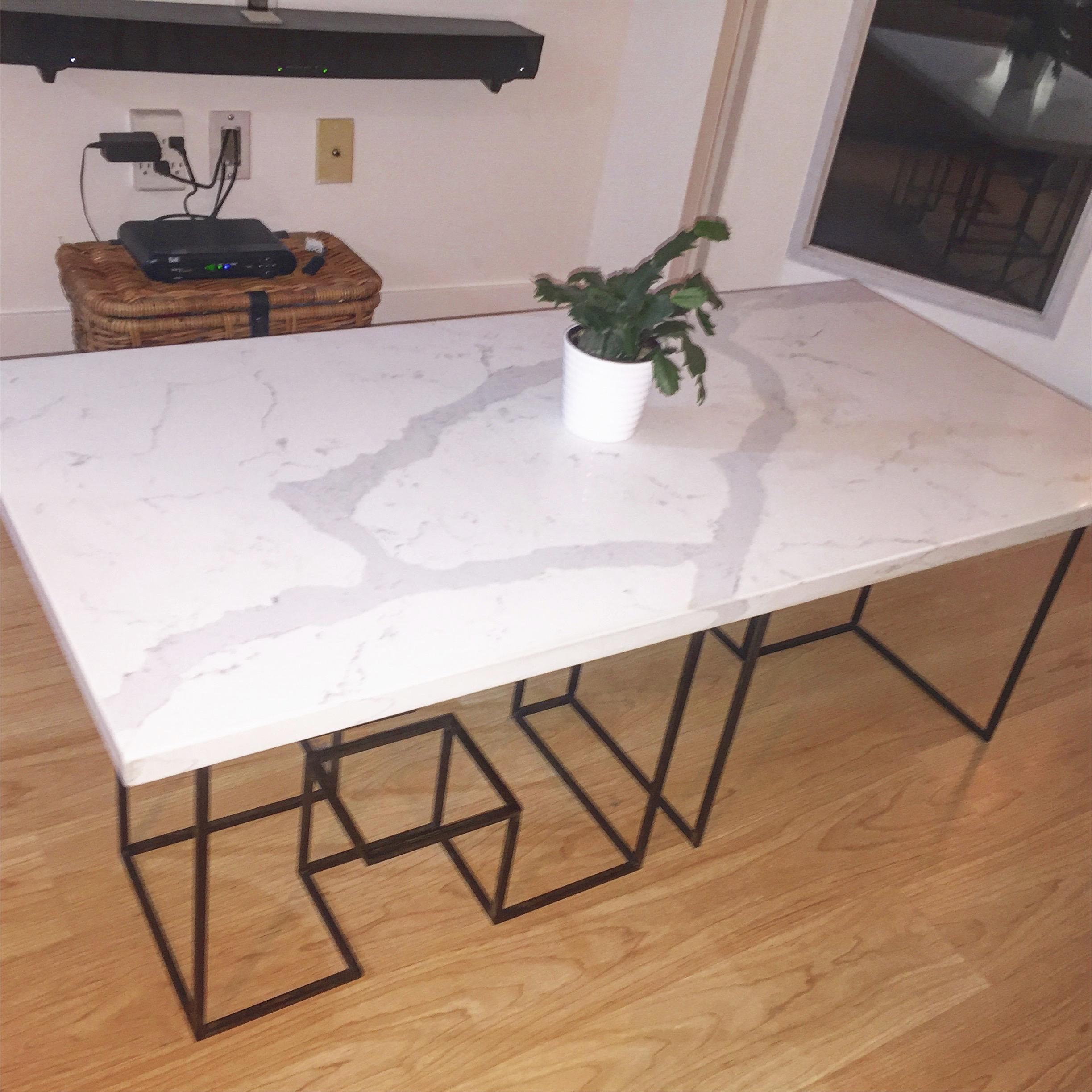 Coffee Table. Steel, Italian marble. 2016