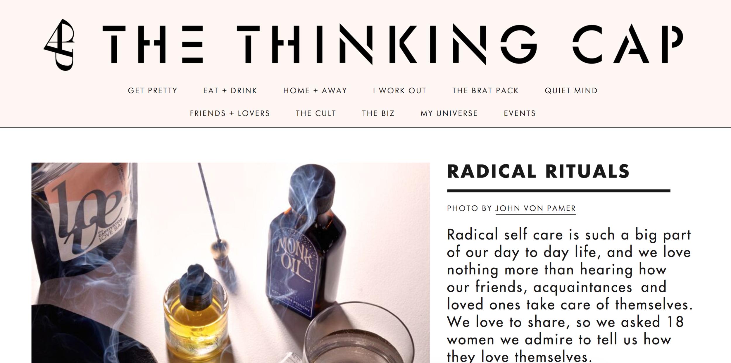 Radical Rituals - http://blog.capbeauty.com/