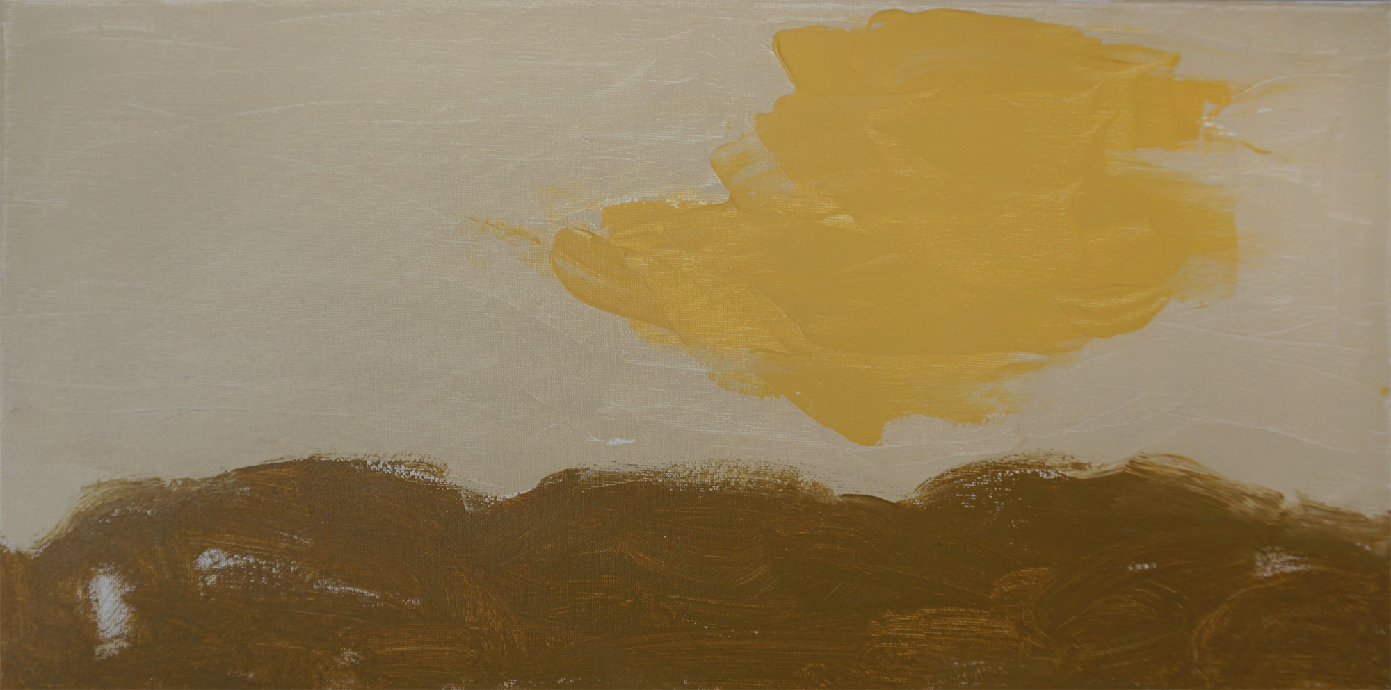 Desert 02   20''x10'' Acrylic paint on Canvas