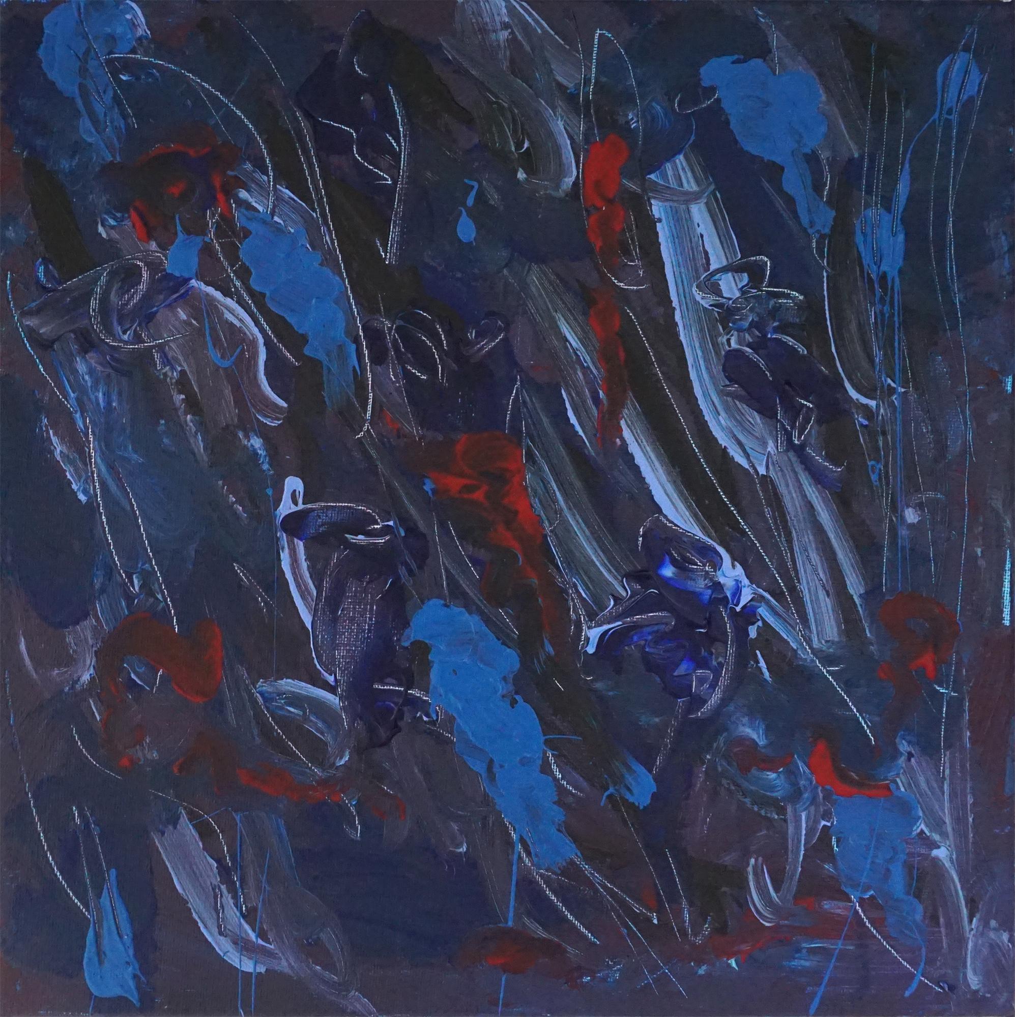 Sea 04   12''x12'' Acrylic paint on Canvas