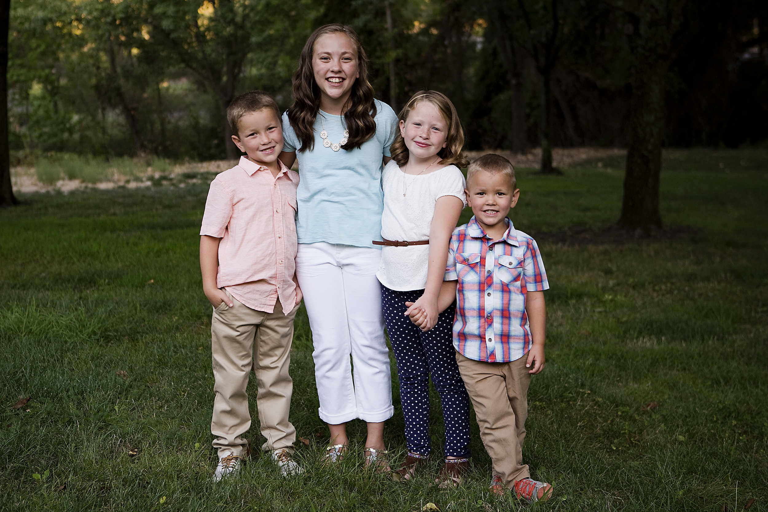 Four Kids, Roseville Family Photographer