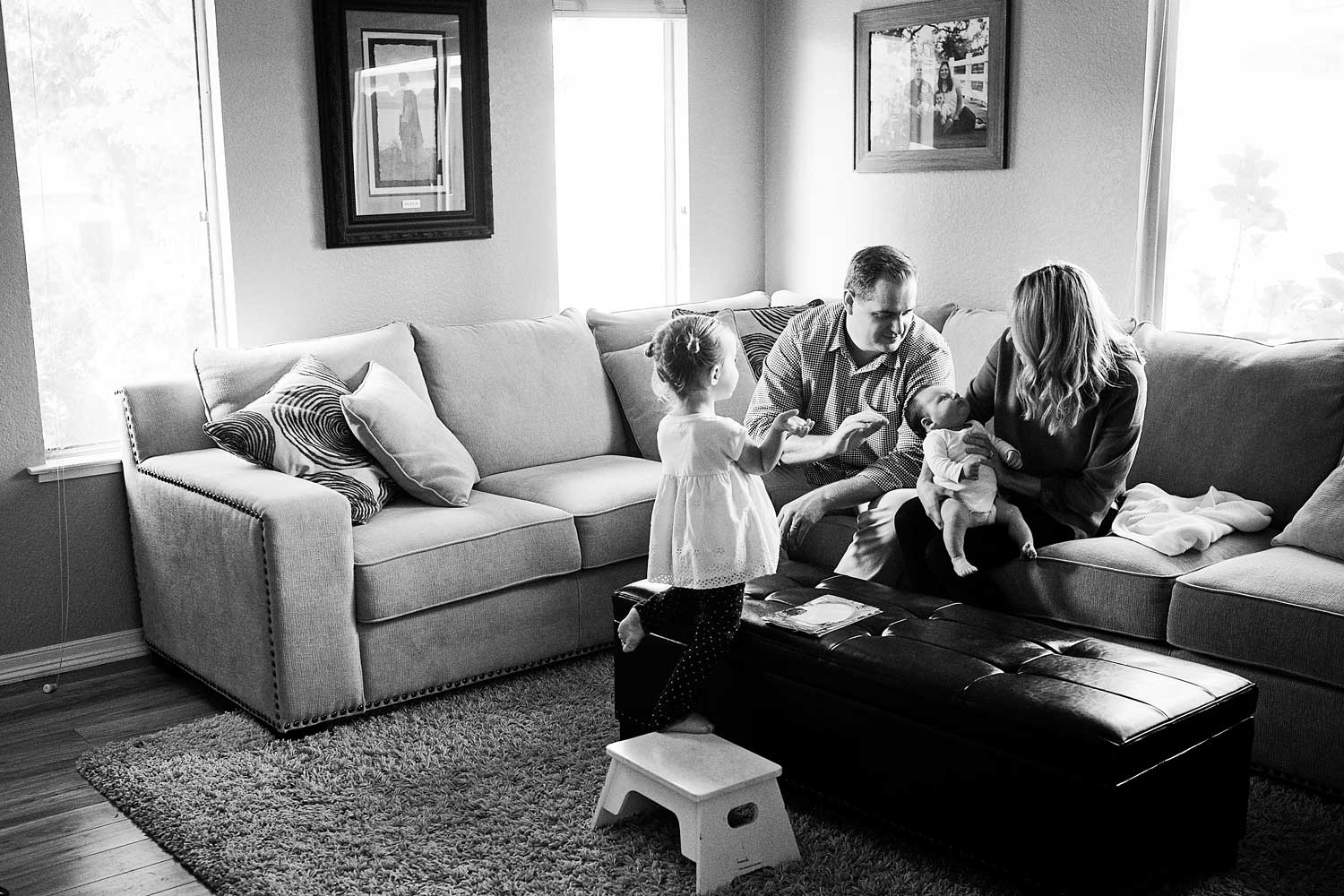 Family of four, Newborn, Amy Wright Photography, Roseville Family Photographer