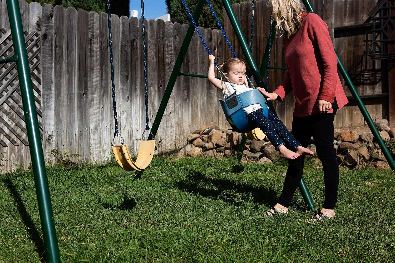 Girl Swinging, Amy Wright Photography, Roseville Family Photographer