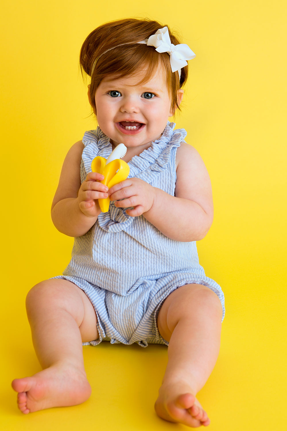 Baby Banana Brush, Amy Wright Photography, Roseville Photographer