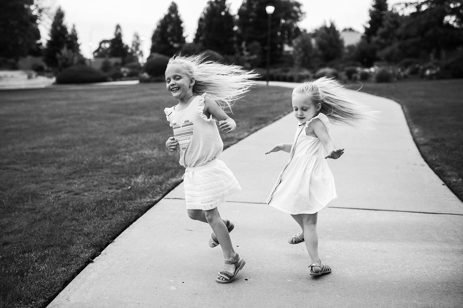 Amy Wright Photography, Roseville Family Photographer, Sisters Spinning