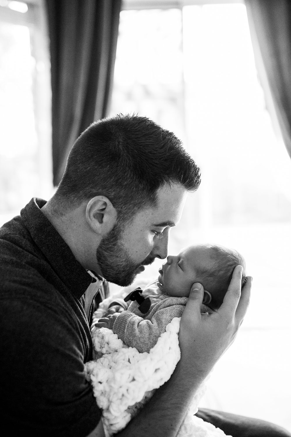 Father and Baby, Roseville Newborn Photographer, Amy Wright Photography