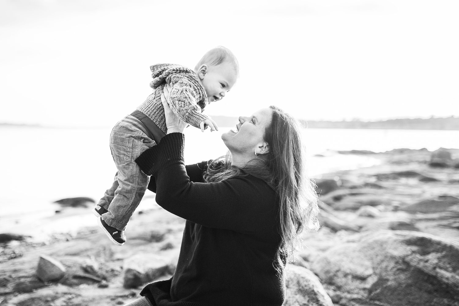 Mother and Son, Family of Three, Folsom Lake, Sacramento Family Photographer, Amy Wright Photography
