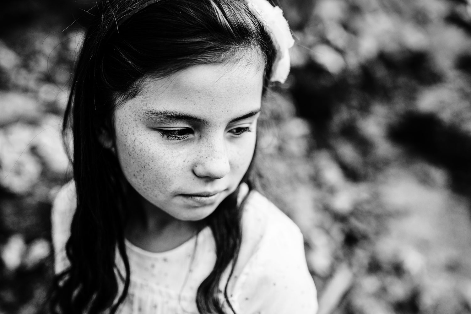 A girl has her portrait taken in a classic and timeless way with photographer Amy Wright, who is based out of Roseville, California.