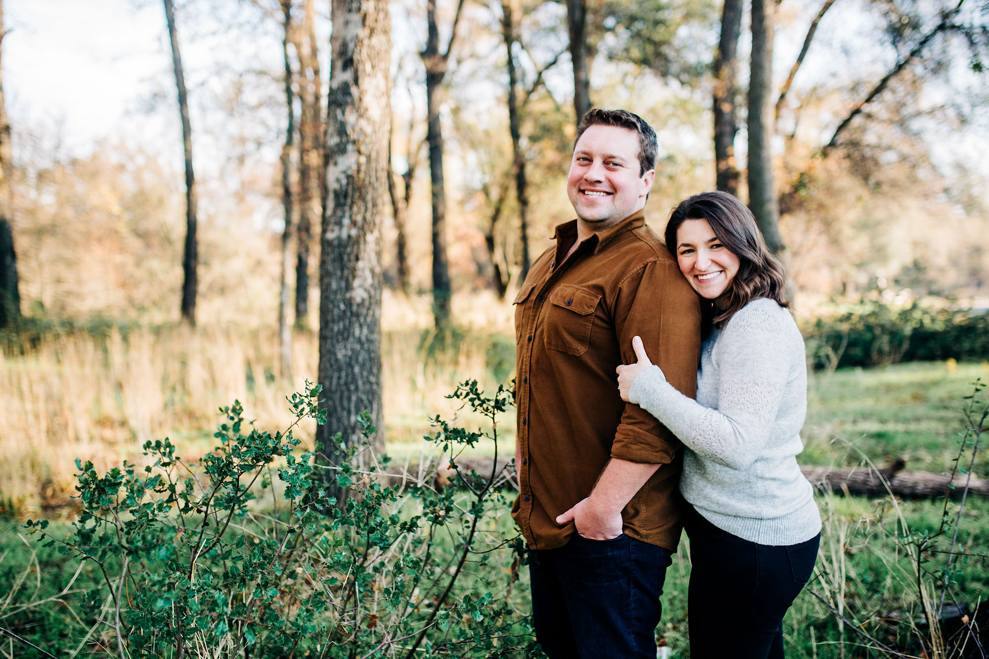 A couple gets their picture taken during their family photo session with Amy Wright Photography, in Roseville, California.