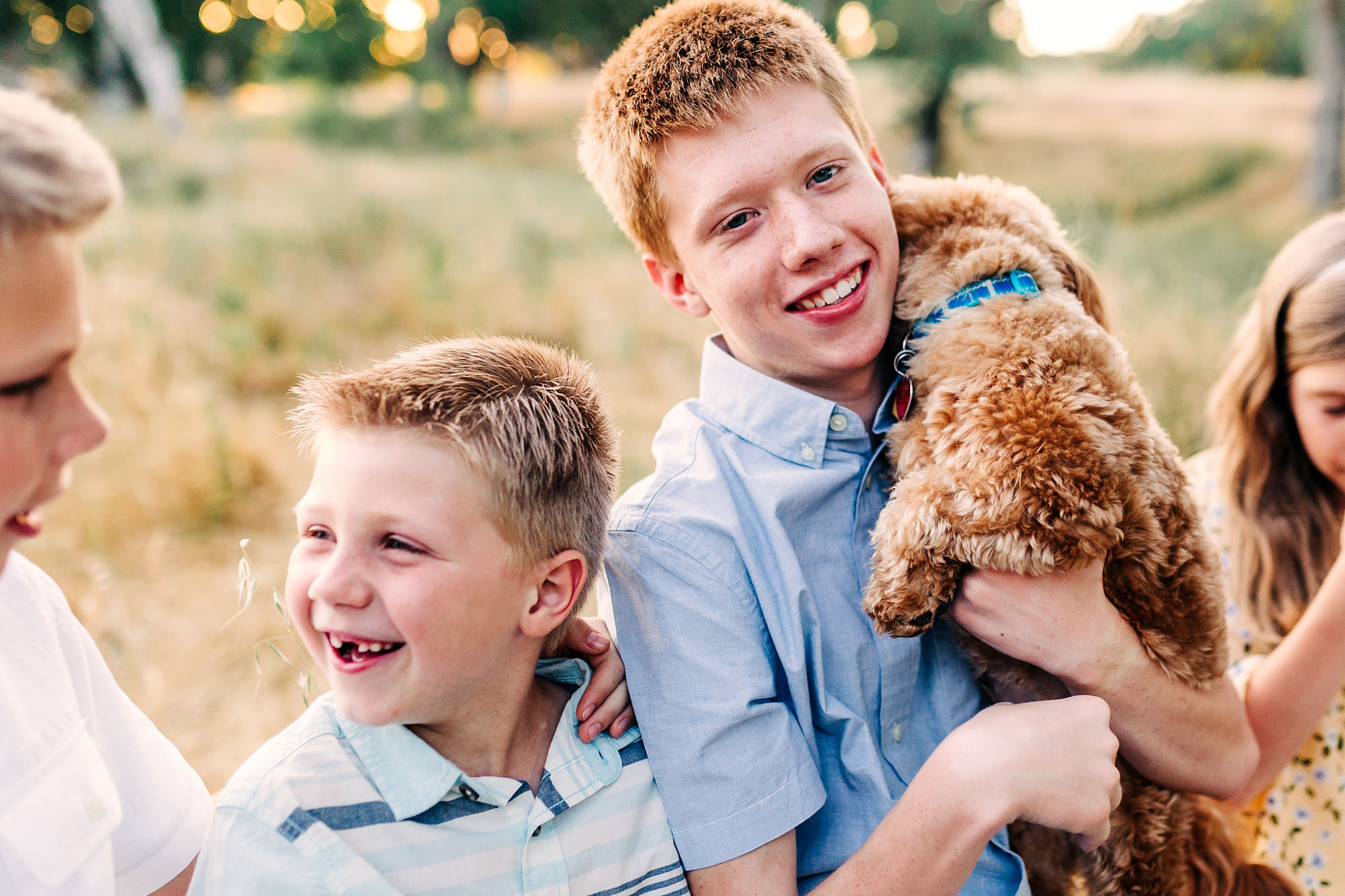 A candid moment is captured during a lifestyle photo session with Roseville family photographer Amy Wright.