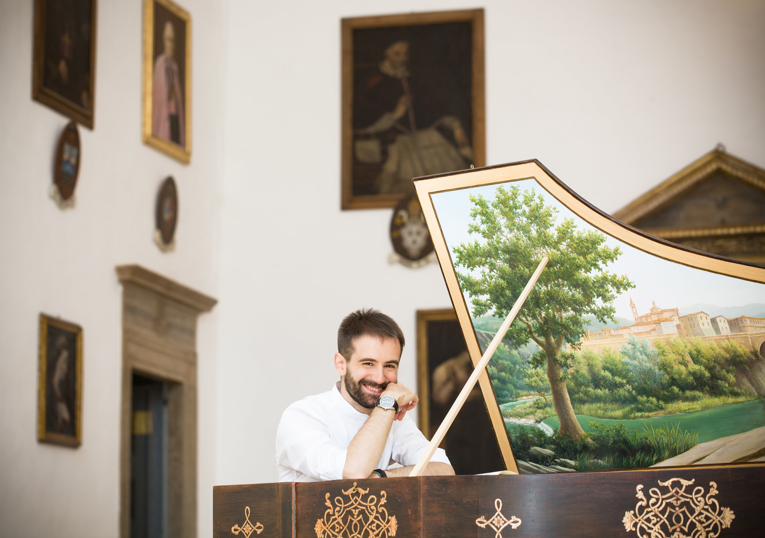 Photo:  Moesse .| Harpsichord:  Federico Mascheroni . | Painting:  Americo Salvatori .